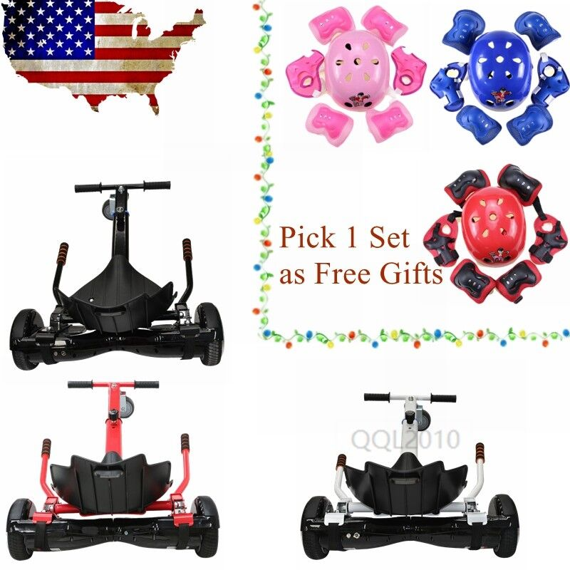 Self Balance Hover Kart Scooter Adjustable 6.5 -10  Racing Go Kart Seat Self US