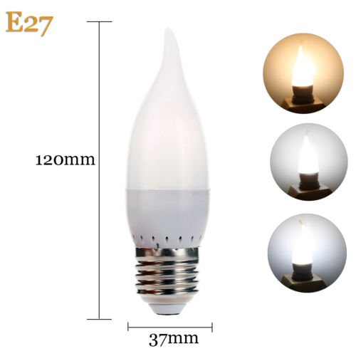3W E12 E26 E27 E14 B22 LED Bulb Flame Chandelier Candle Light 2835 SMD 110V 220V