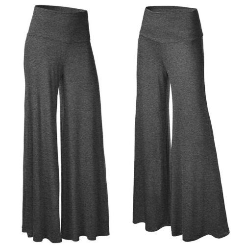 Women High Waist Yoga Pants Wide Leg Casual Flared Slim Sports Leggings Trousers