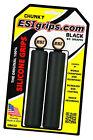 ESI Chunky BLACK 100% SILICONE Mountain Bike Grips shock absorbin 130mm 60g 32mm