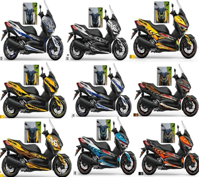 yamaha x max xmax x max 300 sticker designed fairings full. Black Bedroom Furniture Sets. Home Design Ideas