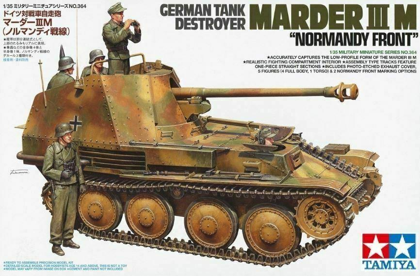 1 35 TAMIYA GERMAN TANK DESTROYER MARDER III M 'NORMANDY FRONT'