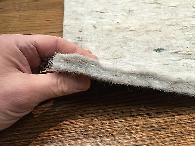 Genuine MOHAWK 1/2 inch Felt Area Rug Pad USA for Hardwood Floors Custom Sizes