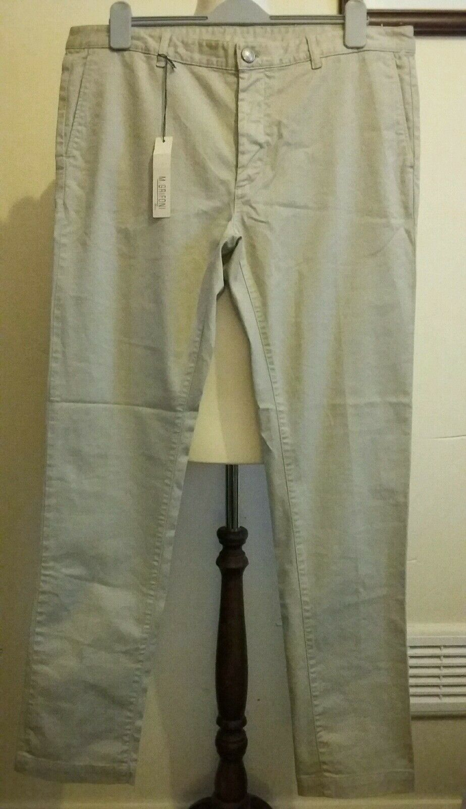MAURO GRIFONI Chinos Pant Trouser Beige Made in italy 54 uk 36