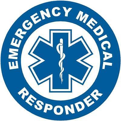Helmet Sticker EMT AED CPR Label Emergency Response Team Hard Hat Decal