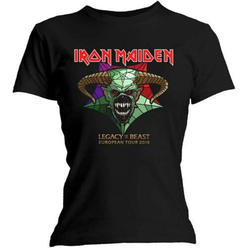 "IRON MAIDEN /""Legacy of the Beast TOUR/"" Da Donna Aderente T-Shirt-Nuovo e Ufficiale!"