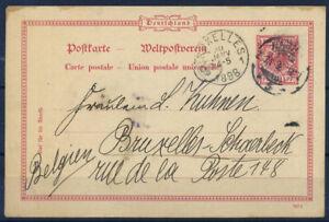 Belgio-1898-Intero-postale-100-Bruxelles
