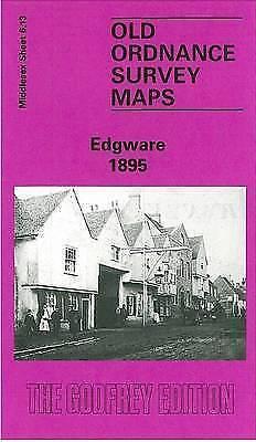 OLD ORDNANCE SURVEY MAP Edgware 1895: Middlesex Sheet  06.13a