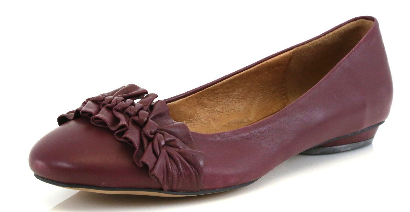 Corso Como FAIRBANKS Burgundy Leather Ballet Flats 7086 Size 9.5 M NEW!