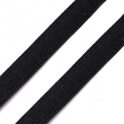 approx. 2.54 cm Ancho Plano Negro o Blanco Fuerte Tejido Elástico Costura Confeccion 25 mm//1 in
