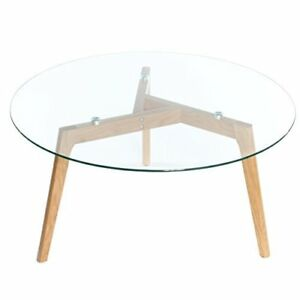 Image Is Loading Charles Jacobs Round Gl Coffee Side Table Solid