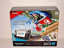 Nintendo Wii U 32GB MarioKart 8 Deluxe System Black Original Replacement Console