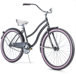 """Huffy 26"""" Cranbrook Women's Cruiser Bike with Perfect Fit Frame Black Pink"""