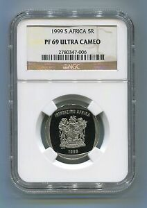 NGC-Certified-Proof-PF-69-Ultra-Cameo-South-Africa-R5-Year-1999-Coin-5R