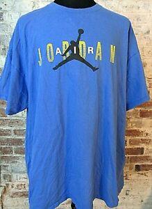Dettagli su VTG Nike Air Jordan Jumpman T Shirt WINGS LOGO Men's 3XL Blue