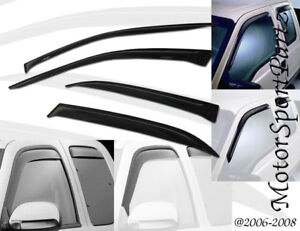 5pcs Out-Channel Visor Rain Guards Sunroof Combo Cadillac Escalade 2007-2014