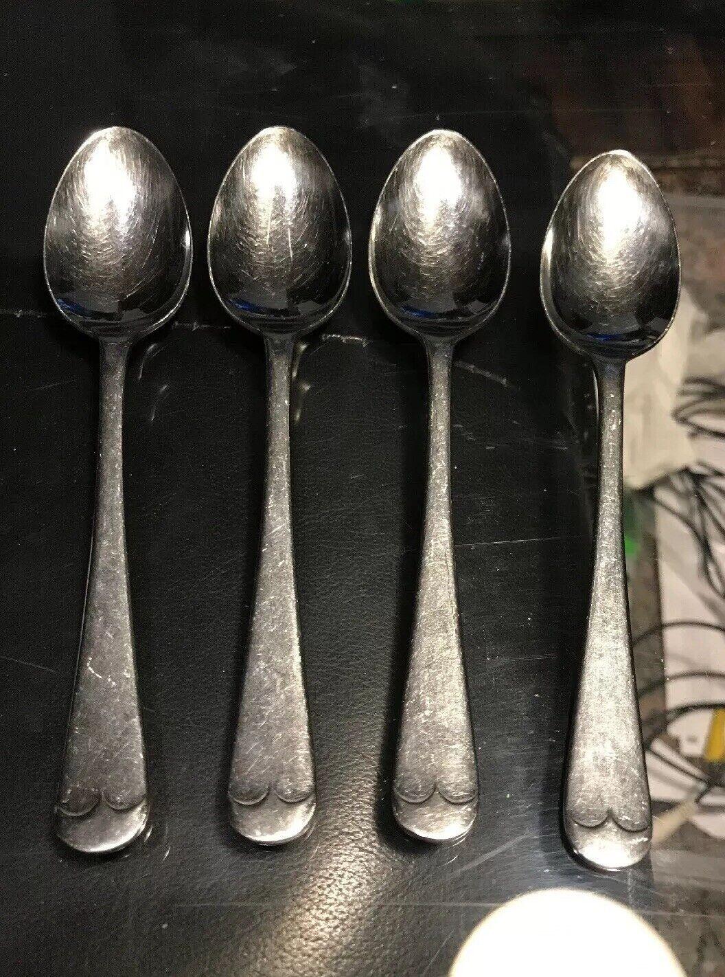 Lot de 4 Gentry anglais Tip Inoxydable Cuillères à Café 6