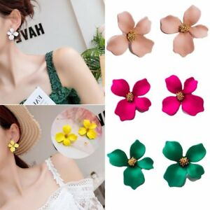 Fashion-Blossom-Flower-Petal-Piercing-Ear-Stud-Earrings-Women-Jewellery-Gift-HOT