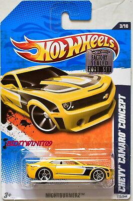 Autos, Lkw & Busse Sinnvoll Hot Wheels 2011 Nightburnerz Chevrolet Camaro Konzept Gelb Fabrik Versiegelt Mit Schnelle WäRmeableitung Auto- & Verkehrsmodelle