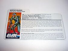 1997 SHORT FUZE FILE CARD G.I. Joe Action Figure Stars & Stripes GREAT SHAPE