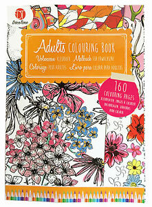Adulti-Libro-Da-Colorare-3-Anti-Stress-Art-Therapy-Rilassante-Lenitivo-160