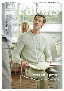 421ea1106 VAT Free Knitting PATTERN ONLY Patons Men s Classic Jumper Sweater ...