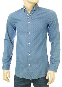 JACK-amp-JONES-by-PREMIUM-chemise-jeans-slim-fit-homme-JJ-PRINTED-light-DENIM