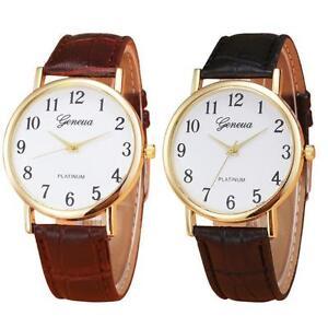 Geneva-Causal-Mens-Military-Gold-Watch-Analog-Leather-Band-Quartz-Wrist-Watches
