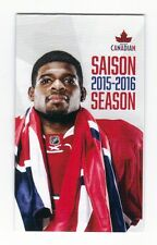 Montreal Canadiens 2015 2016 Hockey Schedule  , P.K. Subban