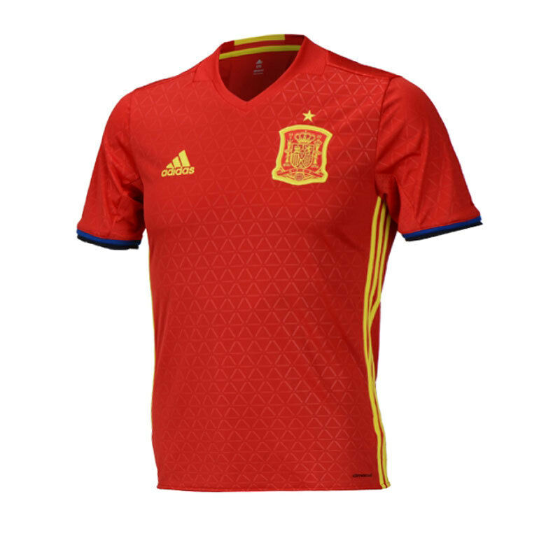 Adidas 1617 Spain Home Team Jersey AI4411 SS Shirts Soccer Football rosso