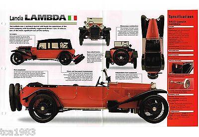 1922/1923/1924 Lancia Lambda Spec Foglio/brochure/opuscolo/catalog