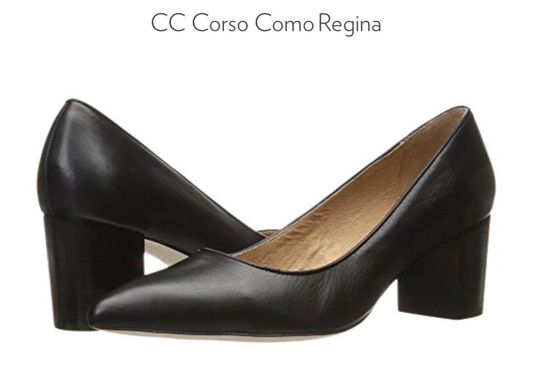 Corso Como Womens Regina Pump-Black Tumbled Leather, Sz.8M Sz.8M Sz.8M  60 e6f787
