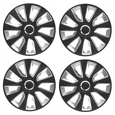 UKB4C 4 x NEX Wheel Trims Hub Caps 14 Covers fits Fiat Punto Doblo Multipla Panda Stilo 500