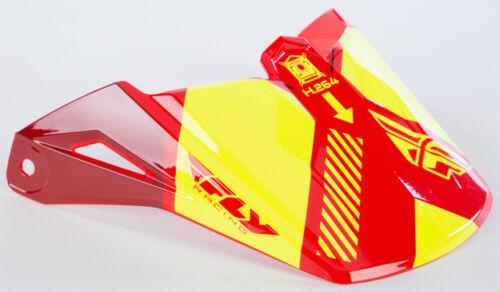 FLY RACING ELITE ONSET VISOR RED//BLACK//HI-VIS 73-88001