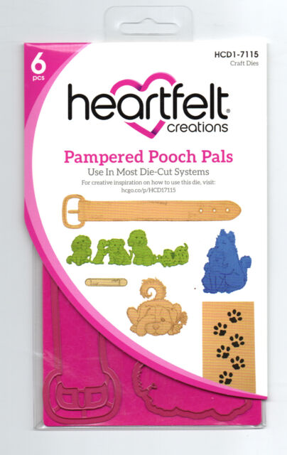 Pampered Pooch Pals Heartfelt Creations Die for Cardmaking,Scrapbooking, etc