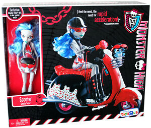 monster high ghoulia yelps scooter exclusive playset doll and pet