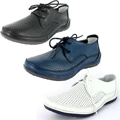 ** Venta ** Damas Down to Earth Con Cordones Zapatos Uk Tamaños 4-8 F3098