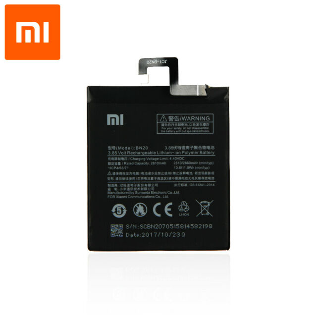 Bateria original para Xiaomi Mi5c / Mi 5C (3.8V, 2860 mAh, BN20)