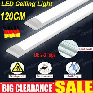 40W LED Feuchtraumleuchte 120cm Röhre Wannenleuchte Keller Garage Lampe IP65
