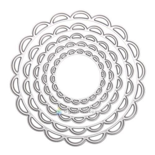 5pcs Metal Circles Metal Die Cutting Dies in DIY Scrapbooking Embossing Die Cut