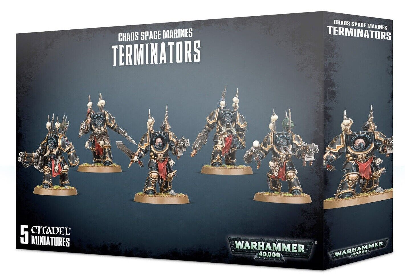Warhammer 40k Chaos Space Marine Terminators New in Box
