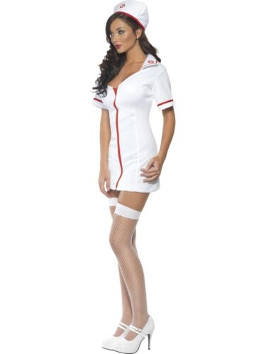 Ladies Nurse Fancy Dress Costume Fever Nurse Outfit by Smiffys New
