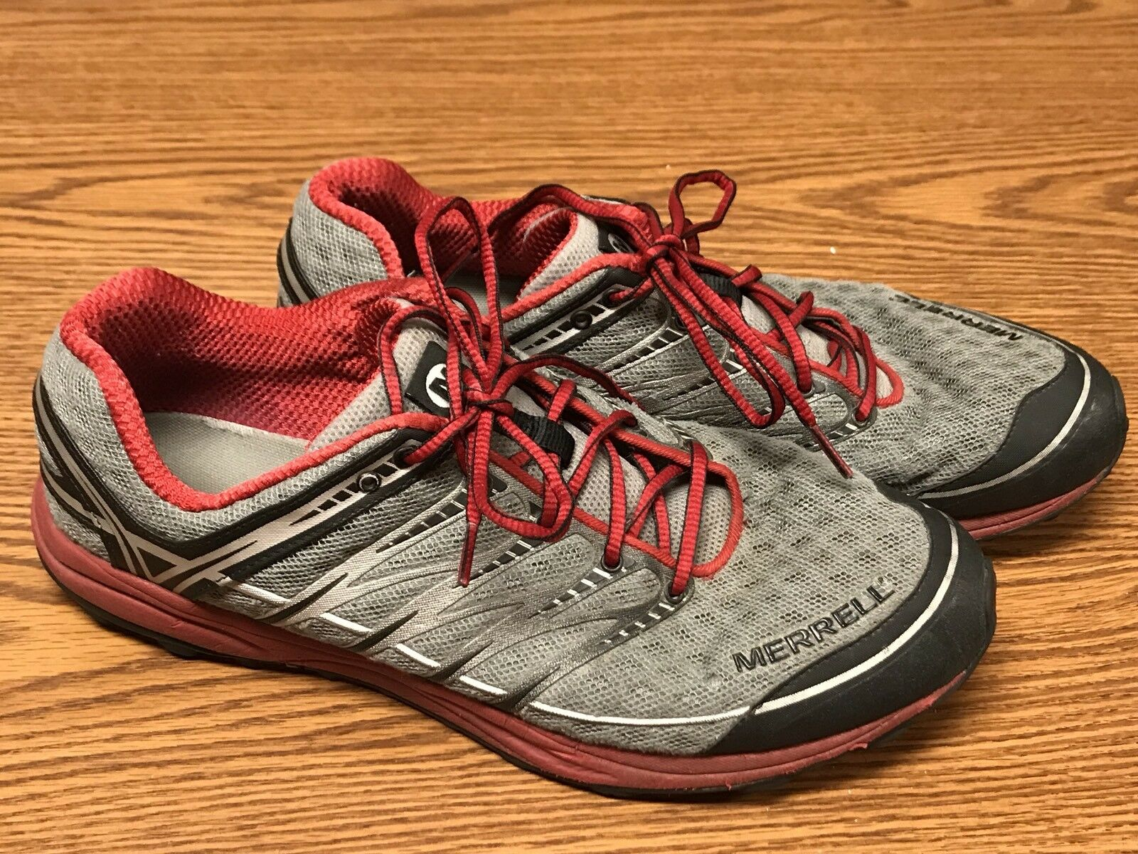 8b3a35e2deedb Merrell Merrell Merrell Mix Master Move Crimson Red Gray Trail Hiking Running  Shoes Men s Sz 12 78aeb9