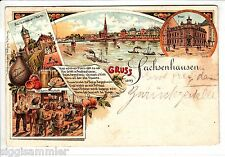 Gruss aus Sachsenhausen AK 1899 Frankfurt Mehrbild Litho Hessen 1506005*
