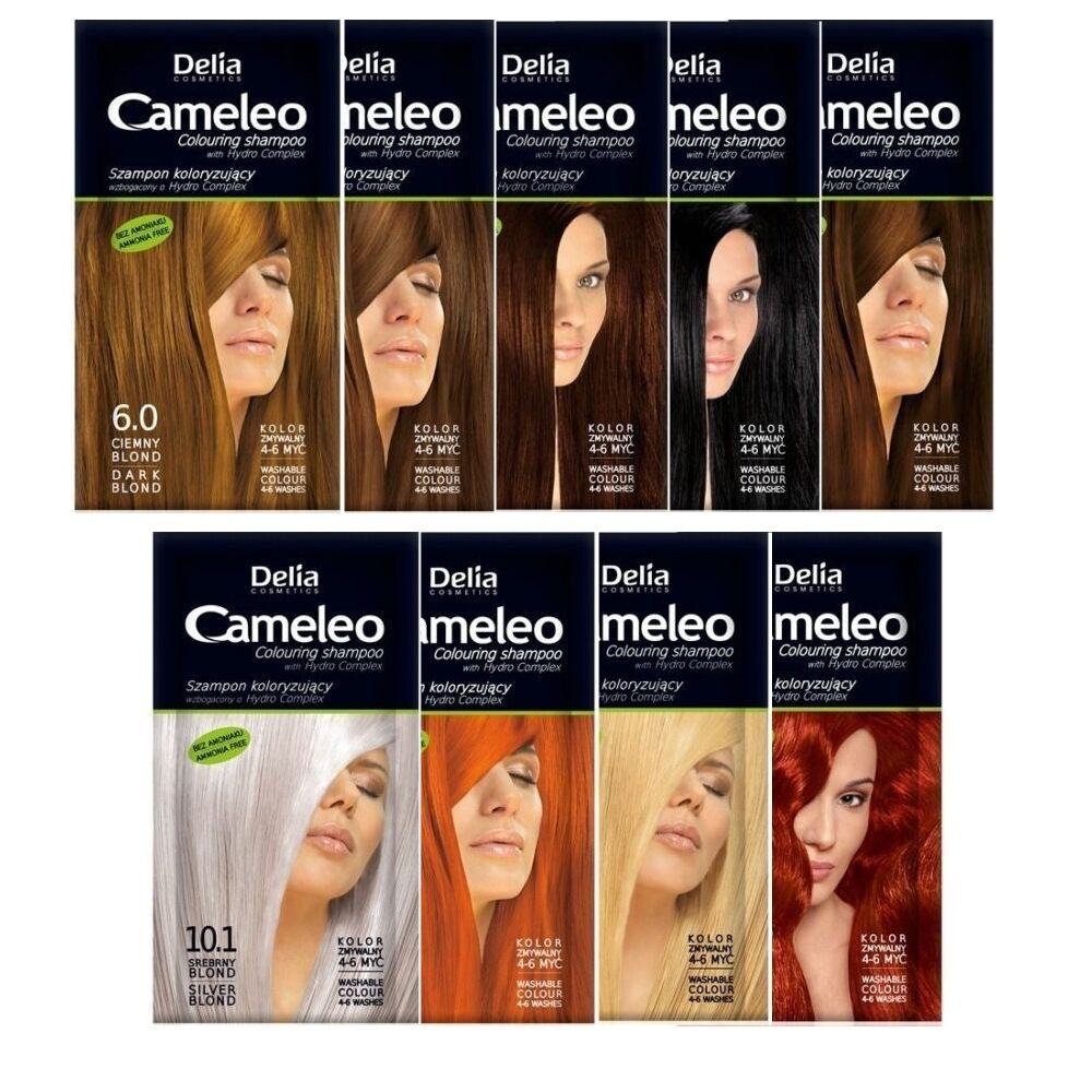 Cameleo Coloring Shampoo With Hydro Complex - Light Brown Ammonia ...