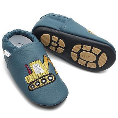 Pantofole's Krabbelschuhe Pantofole Liya Baby Scarpe - #689 Escavatore In Grünbla-mostra Il Titolo Originale Facile E Semplice Da Gestire