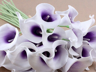 1/5/10/15 PCS Calla Lily Bridal Bouquet Latex Real Artificial Touch Flower Home