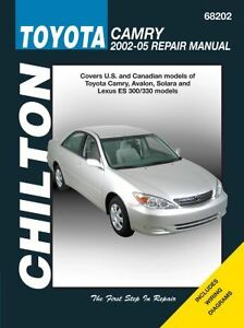 chilton repair manual toyota camry 2002 06 68202 ebay rh ebay com 2002 Camry Owners Manual PDF toyota camry 2002 repair manual free download