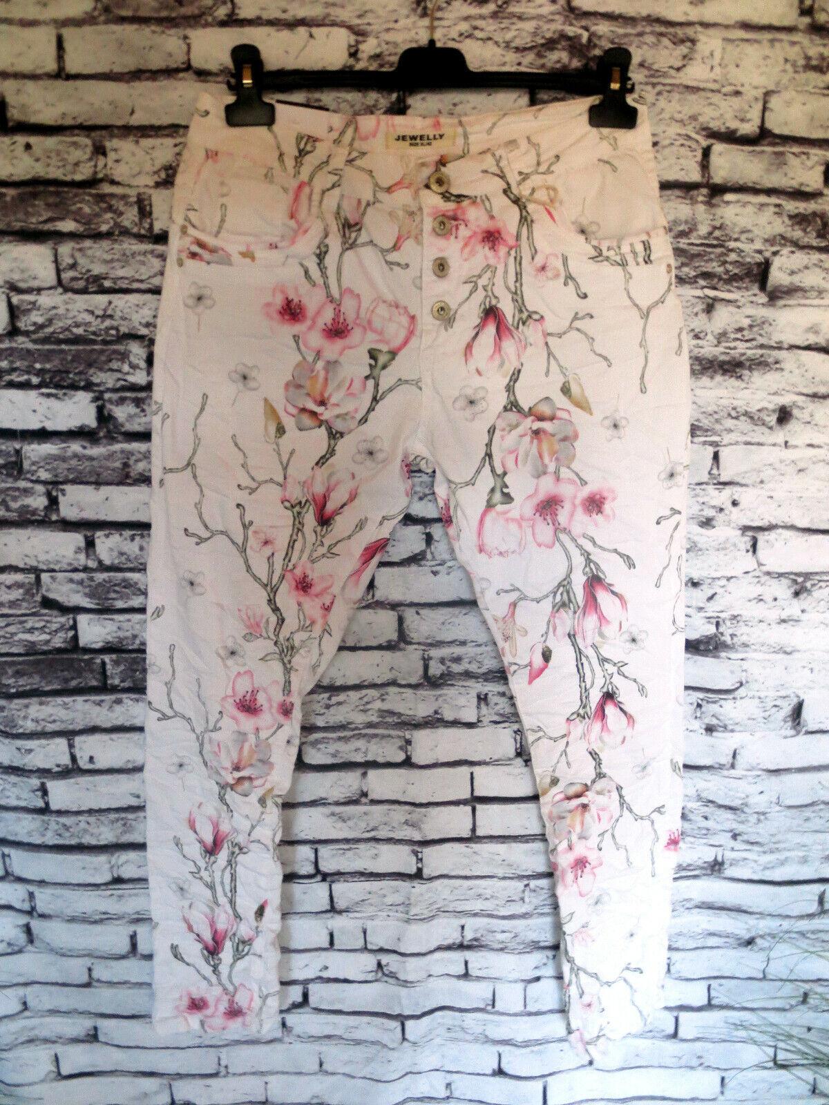 Moda Süsse SommerJeans Blüten Gr.XL 42