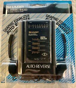 Sharp JC-518(BK) AM/FM Stereo Cassette Player Black - Vintage - New